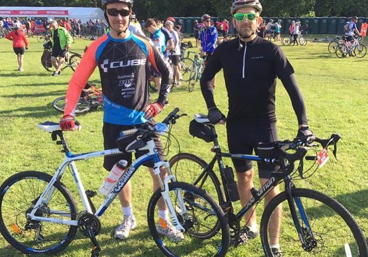 Jay with cycling partner